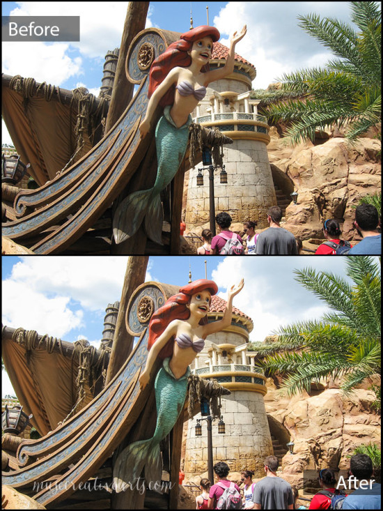 Before and After - Ariel photo
