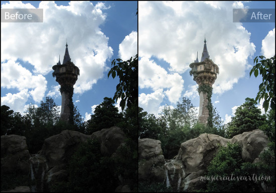 Before and After - Rapunzel Tower photo