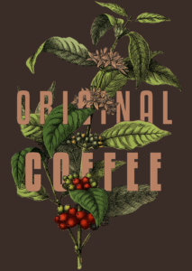 Original Coffee Illustration with Gradient