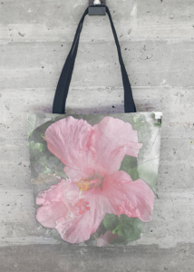 Pink Hibiscus Tote